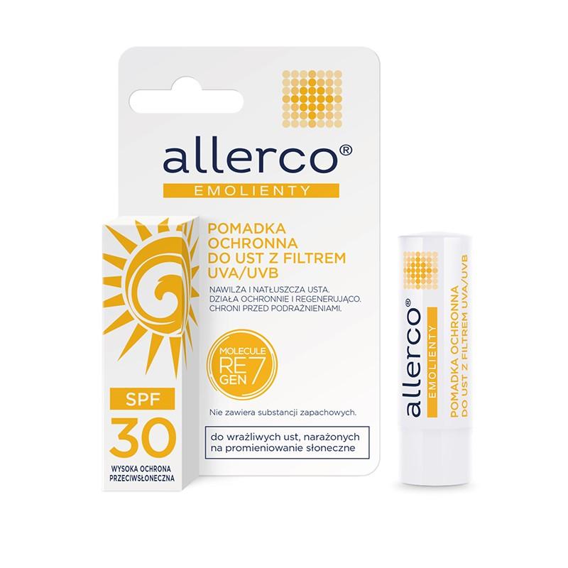 Pomadka ochronna do ust z filtrami UVA/UVB SPF 30 allerco®