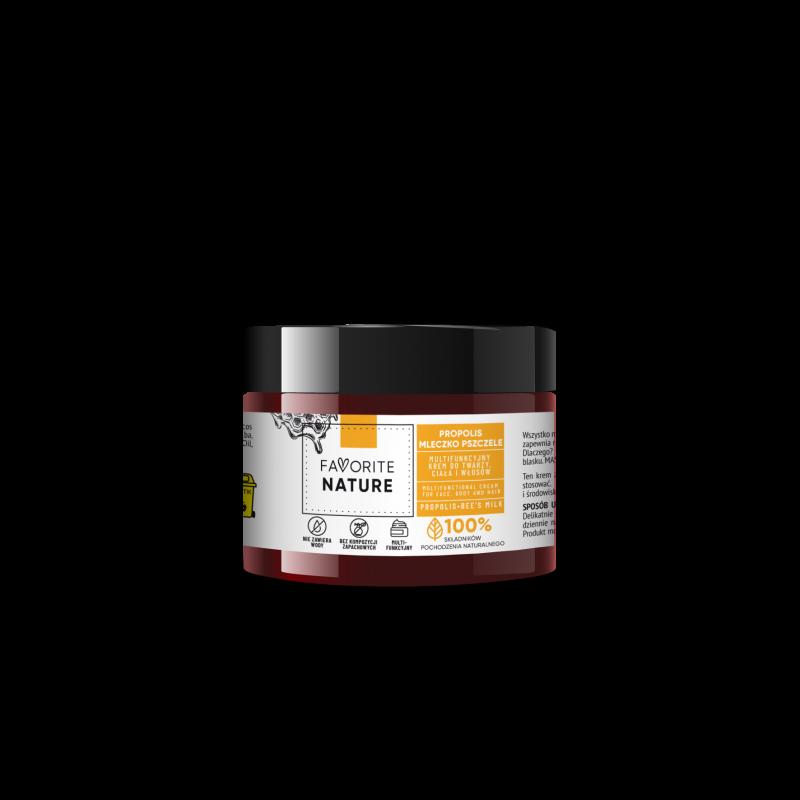 FAVORITE NATURE Multifunkcyjny krem do twarzy i ciała Propolis - Mleczko Pszczele - 50ml