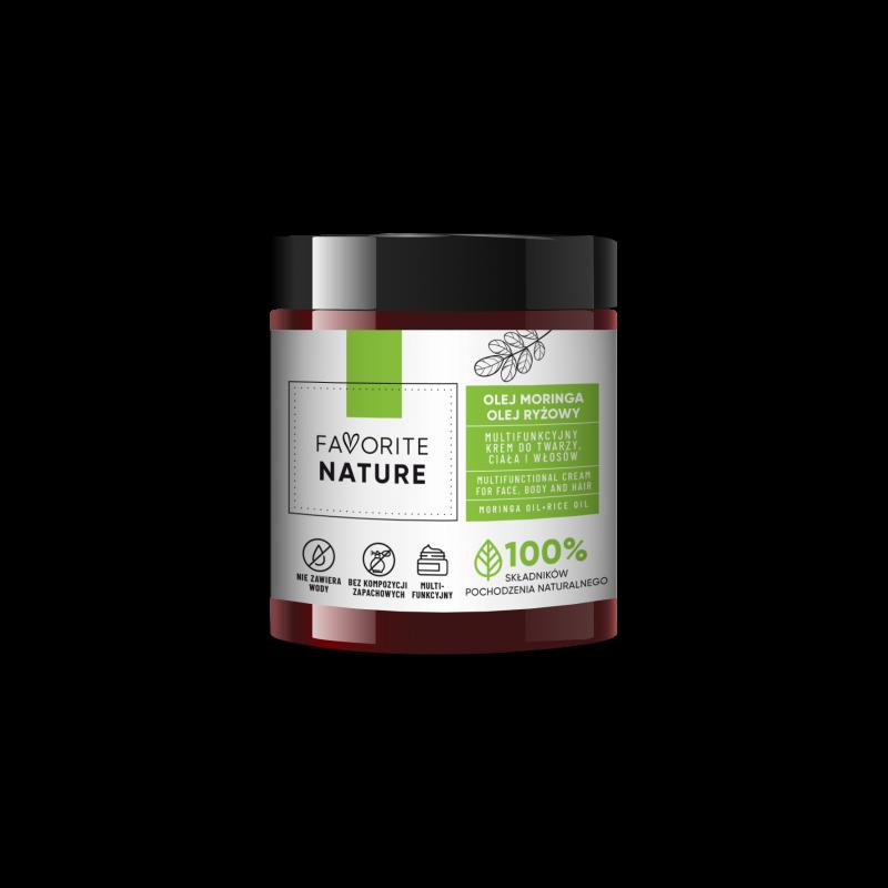 FAVORITE NATURE Multifunkcyjny krem do twarzy i ciała Olej Moringa - Olej ryżowy - 100 ml