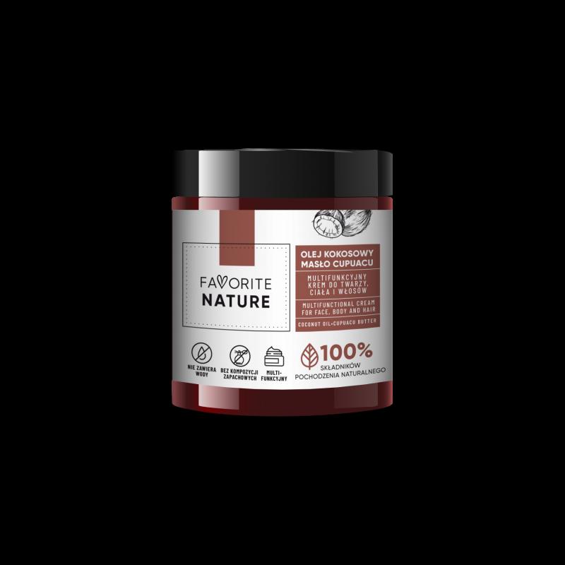FAVORITE NATURE Multifunkcyjny krem do twarzy i ciała Olej kokosowy - Masło Cupuacu - 100 ml