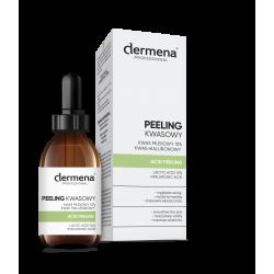 dermena® PROFESSIONAL Peeling kwasowy Kwas mlekowy 10% | Kwas hialuronowy (20 ml)
